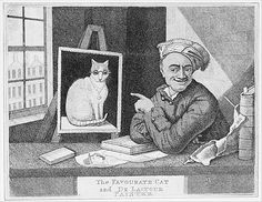 The Favourite Cat and De La-Tour Painter Artist: John Kay (British, Dalkeith, Scotland Edinburgh) Sitter: Portrait of Maurice Quentin de La Tour (French, Saint-Quentin Saint-Quentin) Date: 1813 Saint Quentin, Fine Art Prints, Canvas Prints, Cat Prints, Painter Artist, Curious Cat, Maurice, Historical Maps, Vintage Wall Art