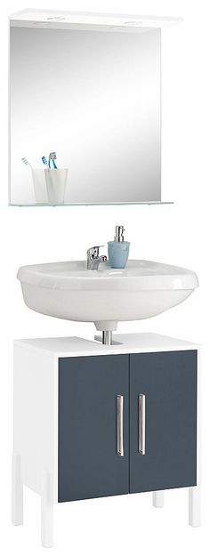 Spiegelschrank Bay - Eiche Riviera Dekor   Beton, Trendteam Jetzt - spiegelschrank fürs badezimmer