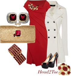 """""""Lady in Red"""" by michelleruth on Polyvore"""