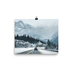 Poster of a road to Banff - Alberta Rockies - Travel photo- Mountains- Toronto photographer - Photo Print - Home Decor - Wall Art Banff Alberta, Toronto Photographers, Poster Making, Home Decor Wall Art, Travel Photos, Giclee Print, Canada, Mountains, Nature