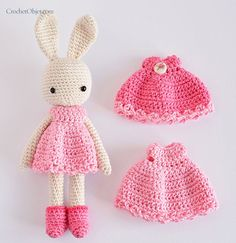 Pretty in pink – bunny dress pattern – DIY tutorial Free ( but bunny is a paid-for pattern)