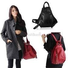 Hot Womens Leather Shoulder Bag Backpack Rucksack Handbag Purse School Bag BE0D