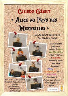 Loisirs Cluedo géant  Alice pays Merveilles - Bibliothèque publique locale de Nivelles