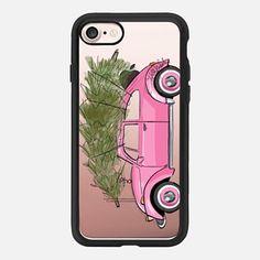 Holiday Ride (Christmas Tree Fashion Illustration Transparent Case)