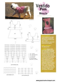 MODA PET CROCHE - Grazielle Jacinto - Álbuns da web do Picasa