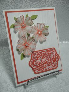 Lots of Embossed Vellum Flowers for July….  07 14 13