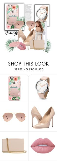 """""""Good vibes"""" by s-o-polyvore ❤ liked on Polyvore featuring Casetify, Ray-Ban, Massimo Matteo, Diane Von Furstenberg, Lime Crime, Jane Iredale and Agave"""