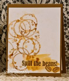 Card by Stacy Sheldon using Darkroom Door Coffee Time Rubber Stamp Set