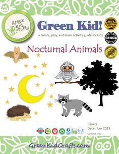 Fun and free award-winning guide of Nocturnal Animal crafts and activities for kids. Developed by teachers and loved by both kids and parents! Animal Snacks, Animal Activities, Free Activities, Learning Activities, Teaching Themes, Nature Activities, Camping Activities, Kindergarten Themes, Kindergarten Science