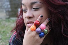 Glitter Rings Goodie Goodie Gum Drops Dome Sparkle by tranquilityy