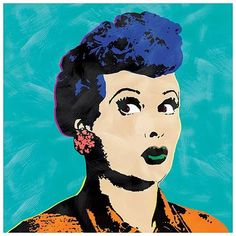 I Love Lucy Andy Warhol Style Pop Art...