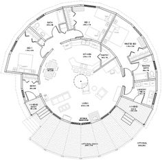 Yurt floor plan, this could be a great place to live an off the grid lifestyle !