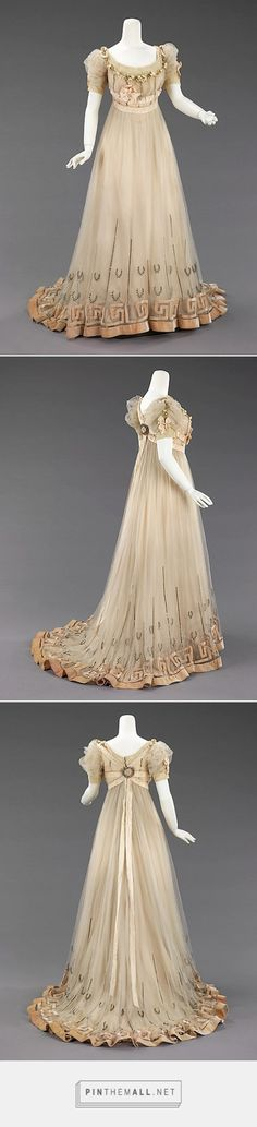 Evening dress by House of Paquin 1905-07 French | The Metropolitan Museum of Art