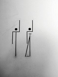 Alvaro Siza design icons The Serralves Foundation, Alvaro Siza Wayfinding Signage, Signage Design, Logo Design, Graphic Design, Toilet Signage, Bathroom Signage, Environmental Graphics, Environmental Design, Wc Icon