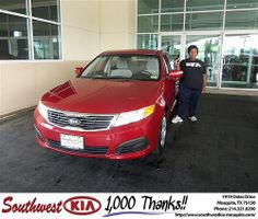 Southwest Kia of Mesquite would like to wish a Happy Anniversary to Ashley Walker on your 2009 Kia Optima
