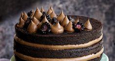 Chokladtårta med chokladfrosting