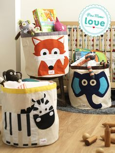 Durable and cute, the 3 Sprouts fox storage bin is a great way to keep your child's room clean and organized. He needs the elephant