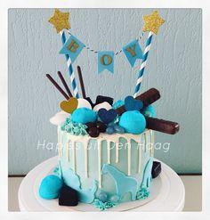 Dripcake babyshower blue boy cake