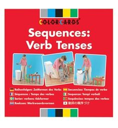 ColorCards Sequences: Verb Tenses. This set of photograph cards contains sixteen three-step sequences illustrating past, present, and future #verb #tenses. The ColorCards portray familiar activities that illustrate each verb tense clearly.
