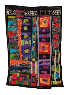 The Love Quilt by Connie Bloom Textiles, Quilt Inspiration, Fiber Art Quilts, Art Quilting, African Quilts, African Fabric, Quilt Modernen, String Quilts, Colorful Quilts
