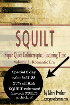 Music Appreciation Made Easy - SQUILT release and flashsale!