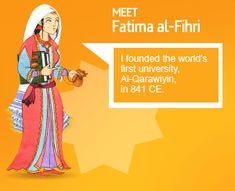 Fatima al-Fihri founded the world's first university, Al-Qarawiyin in 841 CE. History Of Islam, Women In History, Islamic Teachings, Islamic Quotes, Islamic Dua, Quran Quotes, Islam And Science, First University, Journey To The Past