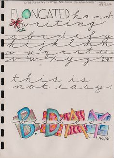 Exemplars for Lettering Journal March 2006