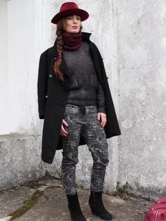 #red #hat #style #streetstyle #outfit #burgundy #black #fashion   outfit on @stylight