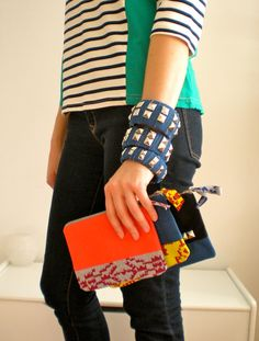 These zipper bags are so cute! I'd also love those bracelets without the studs.