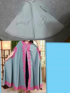 Discover thousands of images about Cape outer Abaya Fashion, Modest Fashion, Diy Fashion, Fashion Dresses, Fashion Design, Sewing Clothes, Diy Clothes, Clothes For Women, Dress Sewing Patterns