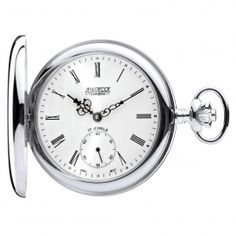 Full Hunter Sterling Silver Mechanical Pocket Watch. Now available at www.pocketwatch.co.uk #pocketwatch #timepiece