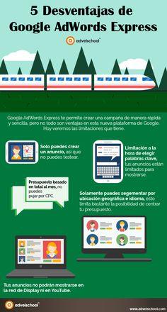 5 desventajas de Google AdWord Express #infografia #infographic #marketing