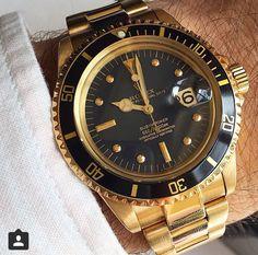 Gold rolex submariner