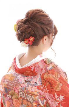 小林 聖美   MEMBER   Decollte & company Formal Hairstyles, Bride Hairstyles, Bridal Make Up, Bridal Hair, Pelo Formal, Traditional Hairstyle, Beauty Makeup, Hair Beauty, Japanese Wedding