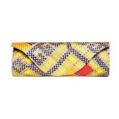 Mayumi Pintados Natural Clutch. This grass-and-palm leaf clutch is hand-woven and embroidered by artisans in the Philippines. $48.00