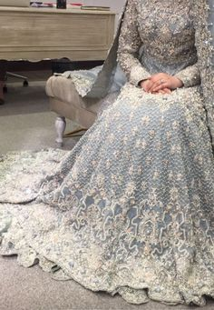 Ice blue gown