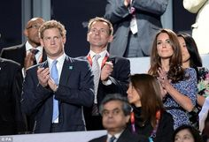 The young Royals show their appreciation for some of the performers at the closing ceremony -  Olympics London 2012