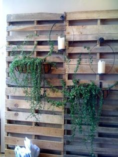 I think I could see doing this as a free standing wall outside the porch to block the sun in the summer