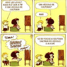No Brasil ela foi jogada fora como peso morto. #cultura #MinC #resiste #mafalda #tira #tirinha #quadrinho #quadrinhos #HQ #Hqs #tv #televisão #brasil #ministério #artista by leandrolgg