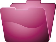 Fucsia Folder by @ilnanny, folder icon, on @openclipart