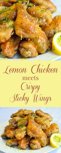 Baked Honey Lemon Glazed Wings - everyone loves crispy sticky wings and everyone loves lemon chicken. Why not combine them both in one incredible wing recipe?