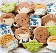 Baby Star Wars cookies #decoratedcookies