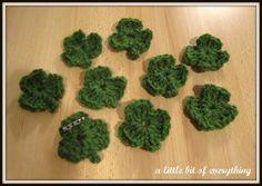 A little bit of everything: Needlebork: Shamrock Pins