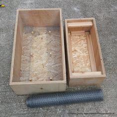 How to make a Hypertufa Trough Diy Cement Planters, Concrete Crafts, Concrete Projects, Concrete Garden, Wall Planters, Succulent Planters, Succulents Garden, Concrete Staining, Wall Garden Indoor