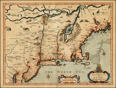 A Map of New England and New York  1676