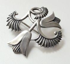 Vintage Modernist Silver Brooch Geoffrey Bellamy by Chixycoco, £98.00