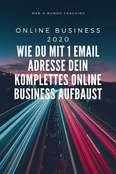 Online Business 2020 - Wie du mit 1 Email Adresse dein Komplettes Online Business aufbaust #onlinebusiness #erfolg #onlinebusinessaufbauen #onlinebusinessideen #coaching #coachingberatung Content Marketing, Affiliate Marketing, Internet Marketing, Inspirations Boards, Coaching, Motivation, Personal Branding, Online Business, Social Media