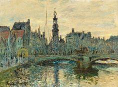 Le Binnen Amstel, Amsterdam (C Monet - W 305),1874.