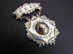 Antique WCTU Silver Religious Temperance Matrons Medal Badge