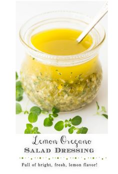 With bright, fresh lemon flavor, this amazing dressing is delicious on just about any salad; but how about on grilled chicken, shrimp and pork, roasted veggies, steamed potatoes … everything? #lemondressing #homemadesaladdressing Lemon Recipes, Wine Recipes, Beef Recipes, Healthy Salad Recipes, Snack Recipes, Yummy Recipes, Cooking With Fresh Herbs, Steamed Potatoes, Sauces